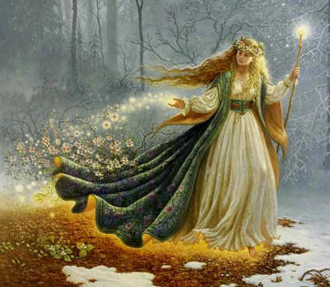 Ostara –  Göttin der Fruchtbarkeit, des Ackerbaus, des Frühlings und der Morgenröte